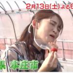 2月13日(土)18:30〜テレビ朝日『ごはんジャパン』で本庄市の「五十嵐いちご園」が映るみたい。