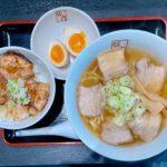 本庄市本町にオープンした「喜多方ラーメン坂内(ばんない)本庄店」の『喜多方ラーメン炙り焼豚ご飯セット』【さいつうグルメ】
