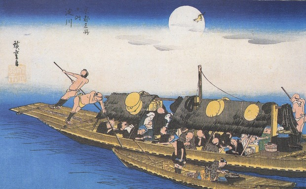 1920px-Hiroshige_A_ferry_on_the_river